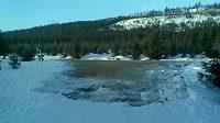 Jizerská lyžařská magistrála v úseku Smědava - Kasárenská, z níž brali organizátoři SP sníh na trať ve Vesci.
