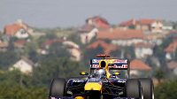 Sebastian Vettel během tréninku na GP Maďarska