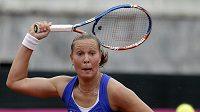 Česká tenistka Lucie Hradecká v utkání Fed Cupu