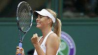 Ruská tenistka Maria Šarapovová ve Wimbledonu