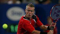 Australský tenista Lleyton Hewitt během zápasu Hopmanova poháru proti Rumunsku