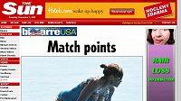Tenistka Serena Williamsova ukázala nechtěně bradavku.