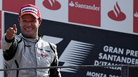 Vítěz Velké ceny Itálie Rubens Barrichello z Brazílie