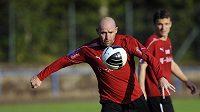 Jiří Štajner na tréninku české fotbalové reprezentace