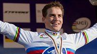 Český cyklokrosař Zdeněk Štybar na MS v Německu obhájil titulu mistra světa.