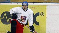 Tomáš Rolinek na tréninku hokejové reprezentace