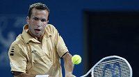 Radek Štěpánek v zápase s australským tenistou Johnem Millmanem na turnaji v Brisbane. (ilustrační foto)