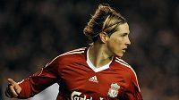 Útočník Liverpoolu Fernando Torres se raduje z branky.