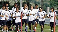Fotbalisté Realu Madrid během tréninku - ilustrační foto