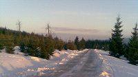 Lyžařská magistrála v úseku Smědava - Kasárenská, odkud brali organizátoři SP sníh na trať ve Vesci