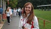 Jitka Pešková s bronzovou medailí