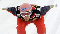 Rakouský skokan na lyžích Andreas Kofler na můstku v Oberstdorfu.