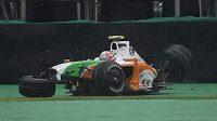Italského pilota Vitantonia Liuzziho postihla během kvalifkace na GP Brazílie nehoda
