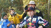 Kimi Räikkönen po nehodě před Katalánskou rallye