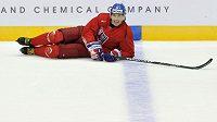 Jaromír Jágr na tréninku české hokejové reprezentace. Čeká ho stejná pohoda i v NHL?
