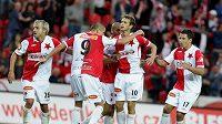 Příliš gólové radosti si fotbalisté Slavie v nové sezóně zatím neužili.