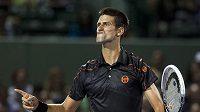 Srbský tenista Novak Djokovič na turnaji v Miami