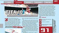 Česká média jsou z FIFA 10 nadšena.