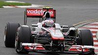Britský pilot Jenson Button ze stáje McLaren během tréninku na GP Austrálie.