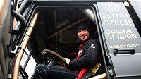 Pilot Tomáš Vrátný v kamiónu Tatra 815 Bonver Dakar Teamu
