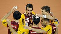 Po prvním zápas finále play-off volejbalové extraligy mužů se radovali hráči Liberce, kteří porazili Kladno 3:1.