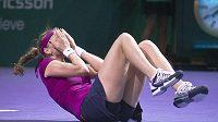 Štaštná, ale i unavená je tenistka Petra Kvitová po vítězství na Turnaji mistryň.