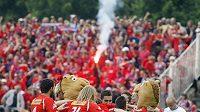 Fotbalisté Plzně se radují z výhry