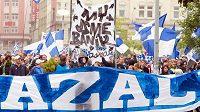 Pochod fanoušků Baníku za záchranu stadiónu.
