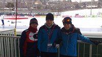 České rychlobruslařky Kateřina Novotná, Karolína Erbanová, a Martina Sáblíková se připravují v Collalbu na mistrovství Evropy.