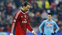 Zlatan Ibrahimovic v dresu AC Milán. Archivní foto