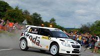 Jan Kopecký se s vozem Škoda Fabia S2000 představil jako předjezdec na Barum rallye.