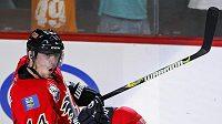 Theoren Fleury se raduje v dresu Calgary Flames
