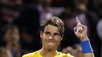 Vítězné gesto španělského tenisty Rafaela Nadala