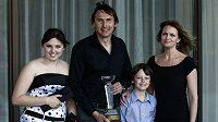 Sympaťák ligy Martin Vaniak s rodinou - manželkou Janou, dcerou Terezou a synem Martinem