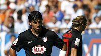 Smutný útočník Atlétika Madrid Sergio Agüero