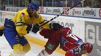 Daniel Fernholm ze Švédska posílá k ledu ruského útočníka Grigorenka