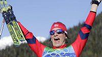 Norská běžkyně na lyžích Marit Björgenová je hrdinkou her.