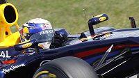 Sebastian Vettel na okruhu Hungaroring v Maďarsku