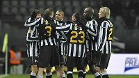 Radost fotbalistů Juventusu