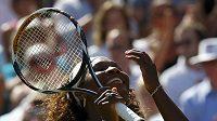 Americká tenistka Serena Williamsová se raduje.