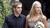 Novomanželé Lahmovi po svatebním obřadu.