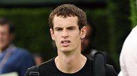 Skotský tenista Andy Murray před svým prvním zápasem ve Wimbledonu.