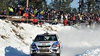 Martin Semerád během Švédské rallye