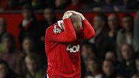 Zklamaný Wayne Rooney