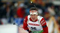 Švédský biatlonista Emil Hegle Svendsen při individuálním závodu SP v Ruhpoldingu.