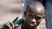 Samuel Wanjiru po maratónu v Londýně v roce 2009.