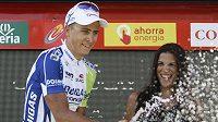 Slovenský cyklista Peter Sagan se raduje z vítězství v šesté etapě Vuelty.