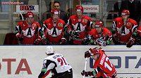 Hokejisté týmu Avtomobilist Jekatěrinburg