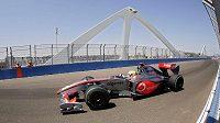 Lewis Hamilton během GP Evropy ve Valencii
