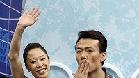 Čínští krasobruslaři Süe Šen a Čao Chung-po